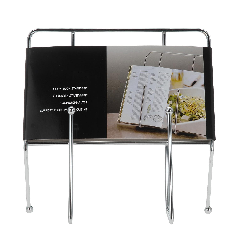 quantio 851293 Leggio in metallo per libro da cucina