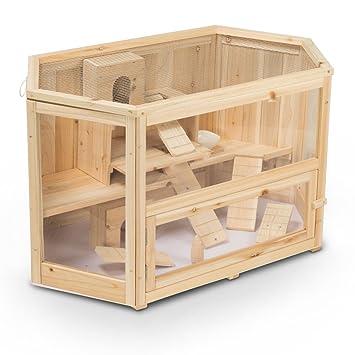 Timbo Cage cochons d Inde Mats de Bois 90x55x55 cm 4240b57f651
