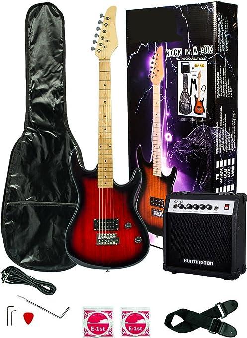 39, guitarra eléctrica y amplificador Pack & funda de transporte y ...