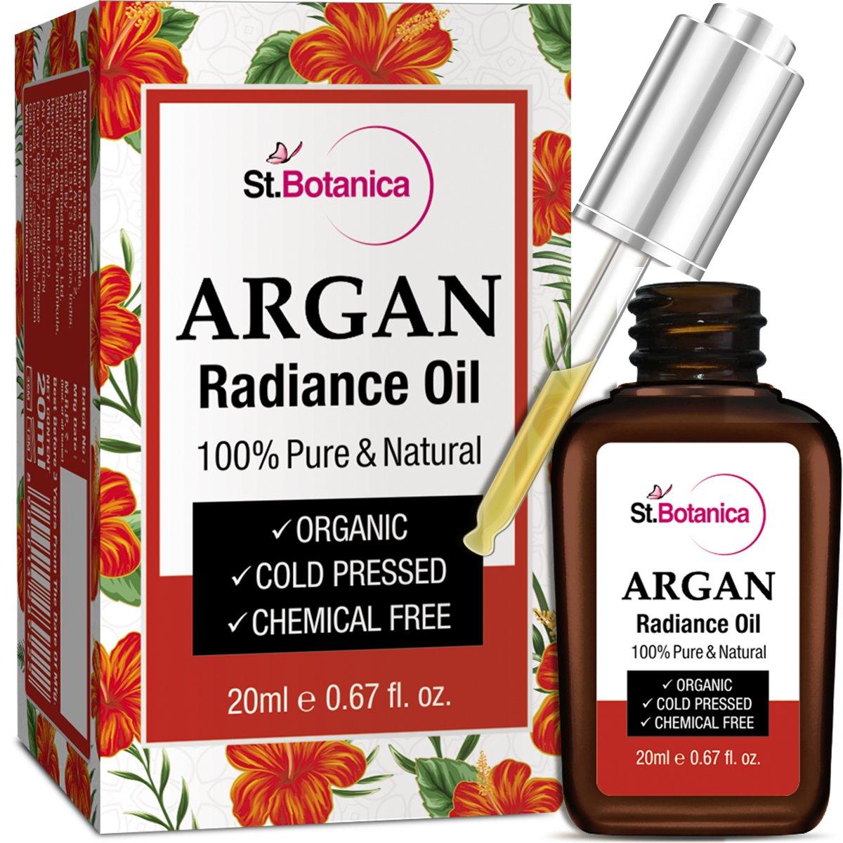 StBotanica Argan Radiance Face Oil - 20ml - Skin Brightening, Anti Aging & Anti Wrinkle Serum product image