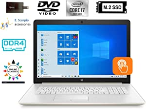 "2020 HP 17.3"" HD+WLED Backlit Touchscreen Laptop Computer 10th Gen Intel Quard-Core i7 1065G7 up to 3.9GHz 32GB DDR4 RAM 1TB PCIe SSD DVD Webcam Windows 10 with E.S 32GB USB Card"