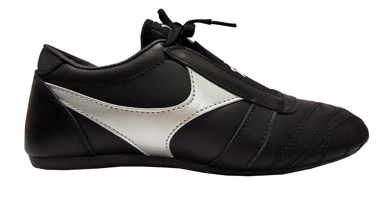 DOUBLE Y Chaussures arts martiaux en cuir noir