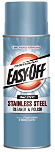 Easy Off Professional Stainless Steel Cleaner & Polish, 17 oz Can, for Grills Ovens & Appliances