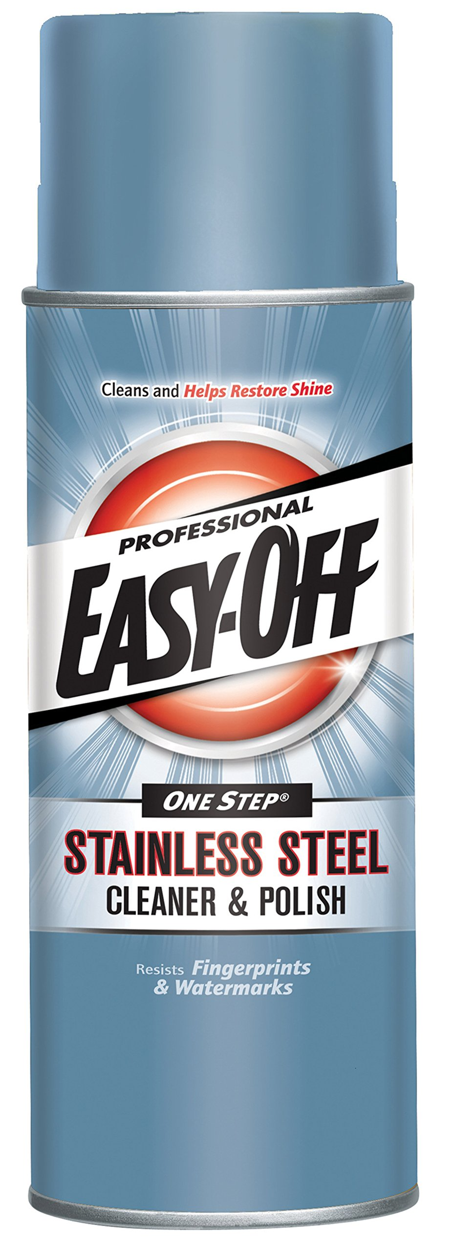Easy Off Professional Stainless Steel Cleaner & Polish, 17 oz Can, for Grills Ovens