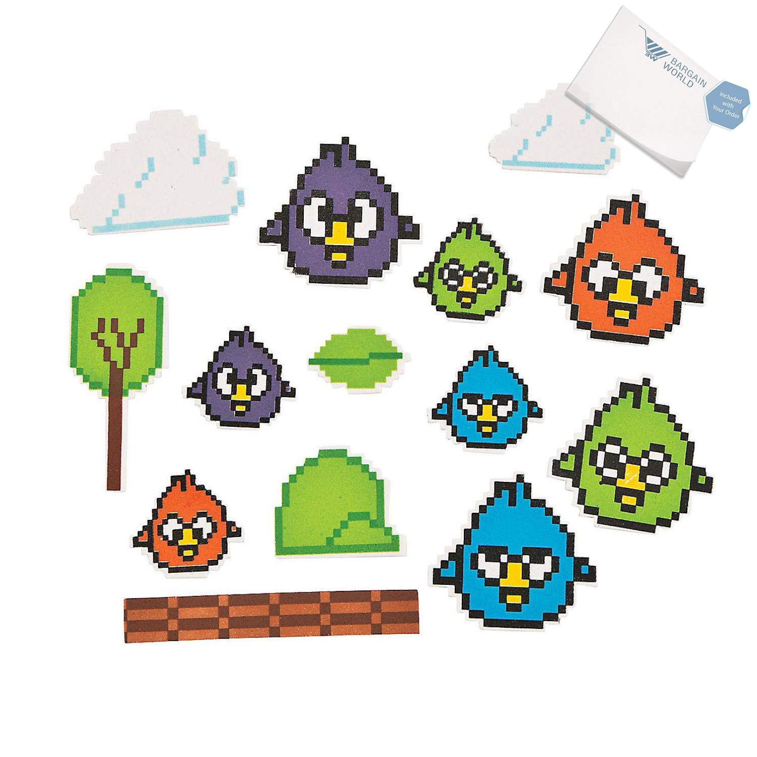 Bargain World Crazy Bird Foam Shapes (With Sticky Notes) by Bargain World (Image #2)