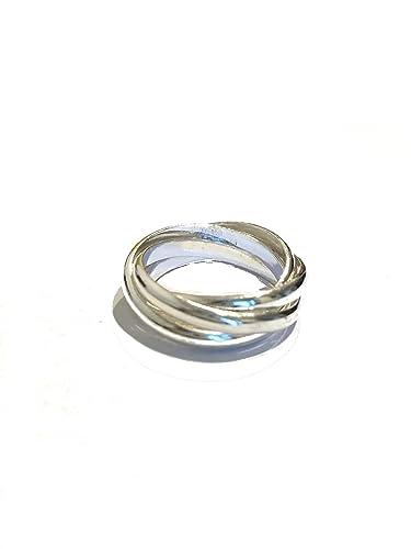 arte squisita acquista il più recente diversificato nella confezione La Conchiglia Anello Anelli 5 Fedine Intrecciate Liscio Argento 925 Donna
