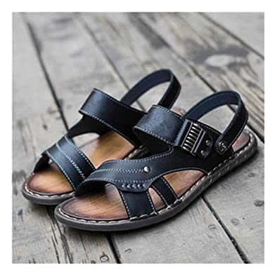 f5c7ae4a1 Adam Woolf 2018 New Men s Flip Flops Genuine Leather Slippers Summer  Fashion Beach Sandals Shoes for