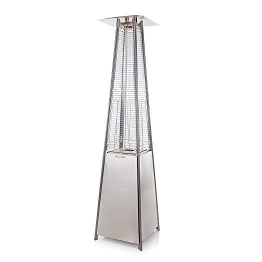 Pyramid Living Flame Garden Gas Patio Heater - Floor Standing in ...