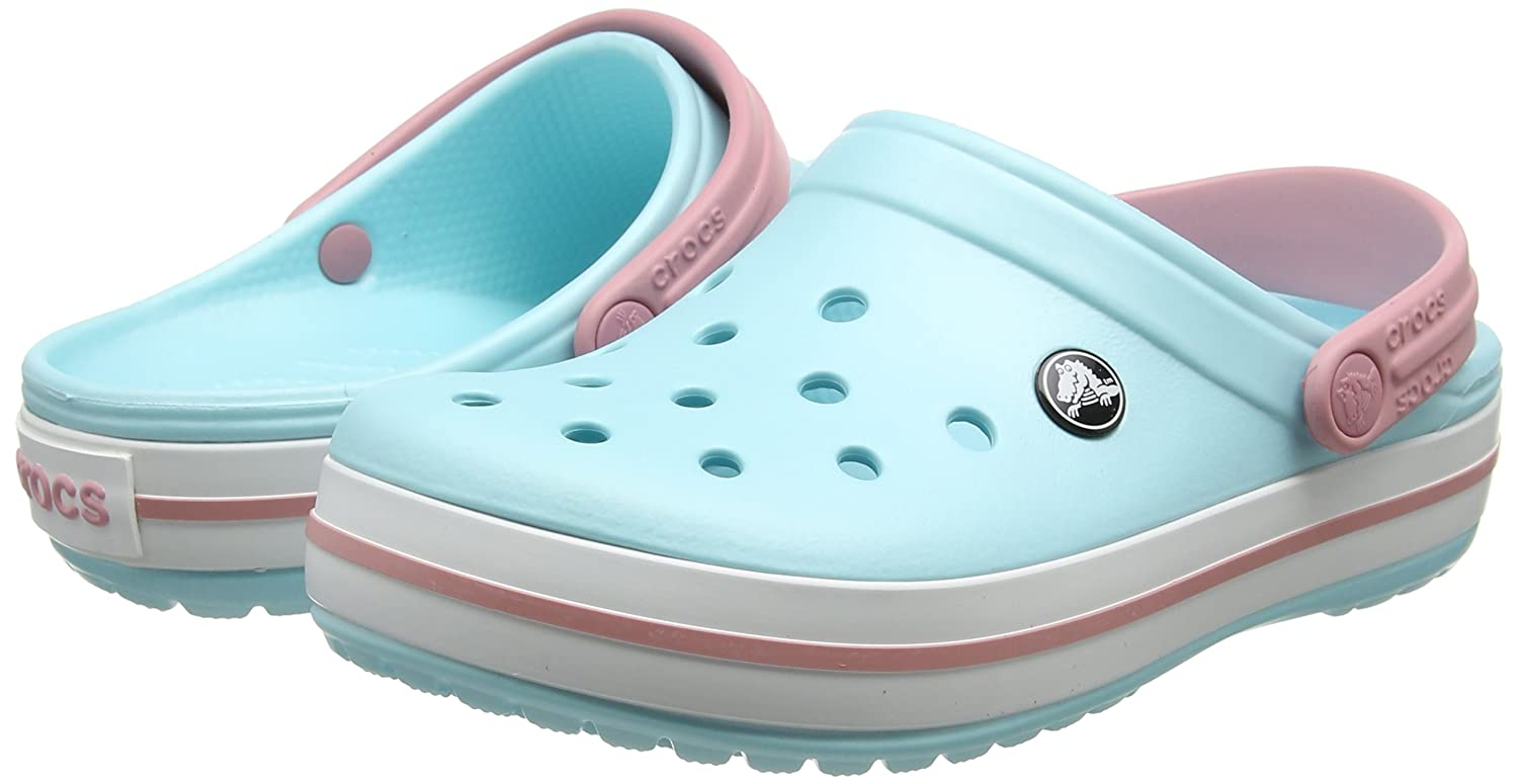 Unisex Crocband Ice Blue/White Clog/Mule