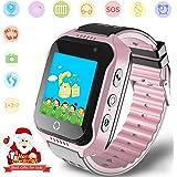 Montre GPS Tracker Enfant - Smartwatch Téléphone avec Podomètre Révei SOS Caméra Enfants…