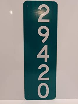 8038da133aaf0 911 Green Premium 3M Prismatic Reflective House Number Sign Mailbox ...