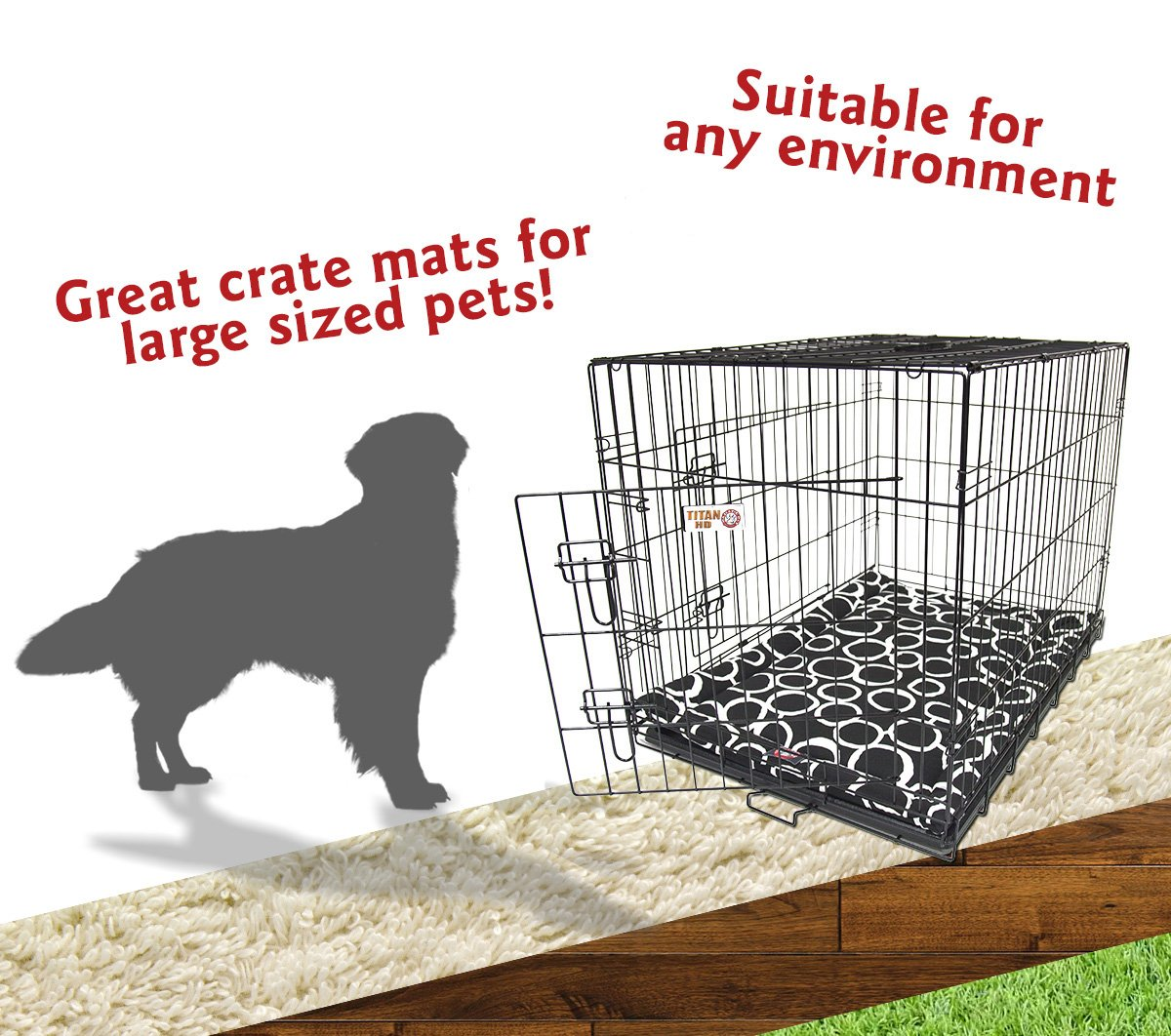 Majestic Pet 42'' Fusion Black Crate Dog Bed Mat Products by Majestic Pet (Image #5)