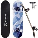 METROLLER Skateboards,31 x 8 Complete Standard Skate Boards for Girls Boys Beginner, 7 Layer Canadian Maple Double Kick…