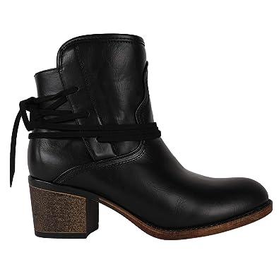 Amazon.com: Botines de tobillo vintage para mujer, con ...