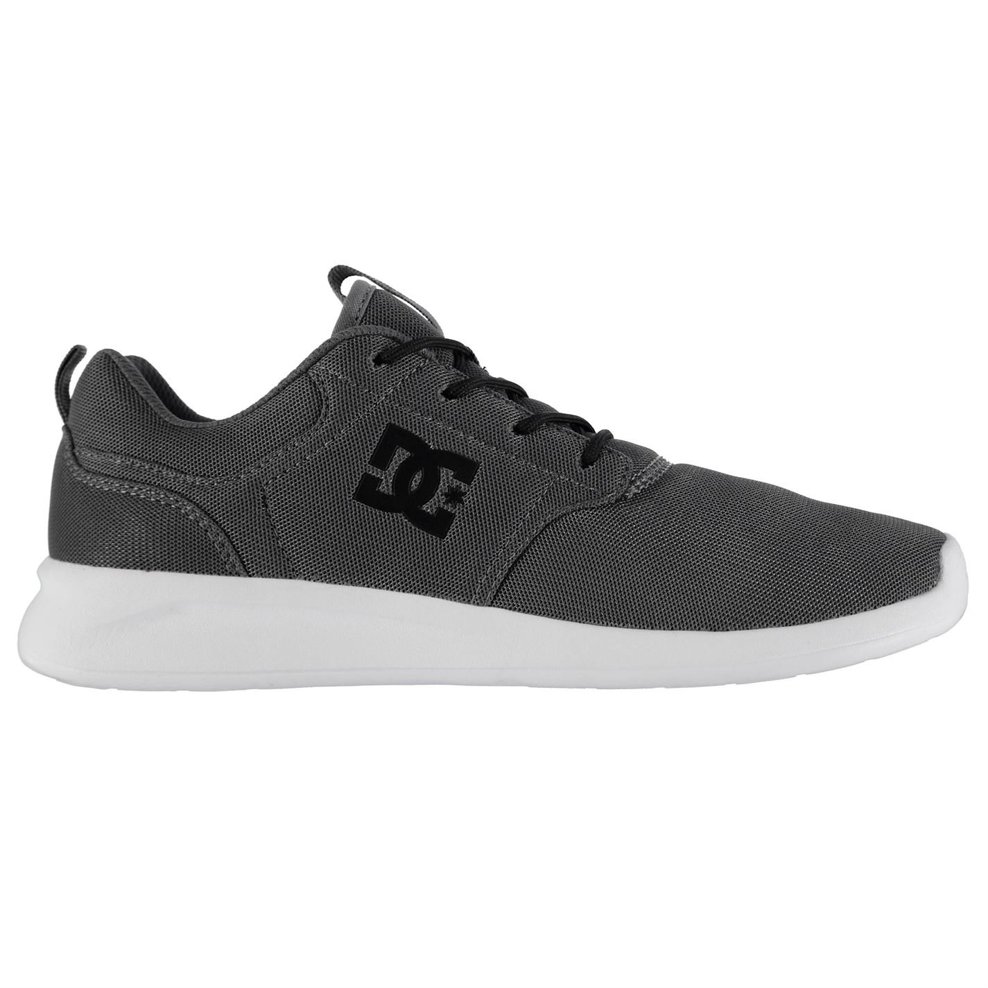 DC Herren Midway Skate Schuhe Turnschuhe Turnschuhe Leicht Skateboardschuhe Grau 8 (42)