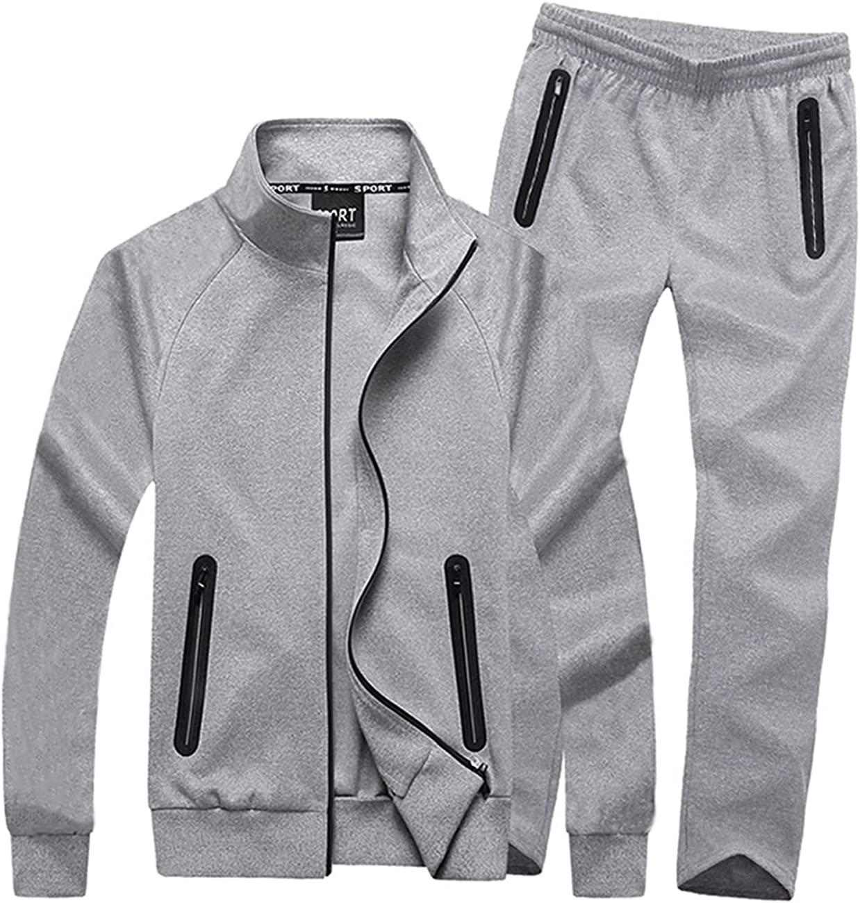 Soldering Men's Athletic Tracksuit Set Full Zip Jogging Gym Sports Miami Mall Casual