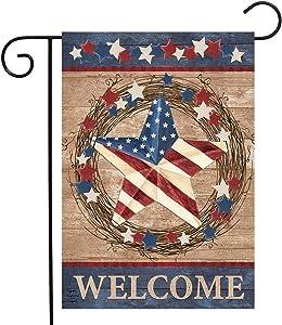 Briarwood Lane Americana Barnstar Patriotic Garden Flag Welcome Primitive 12.5