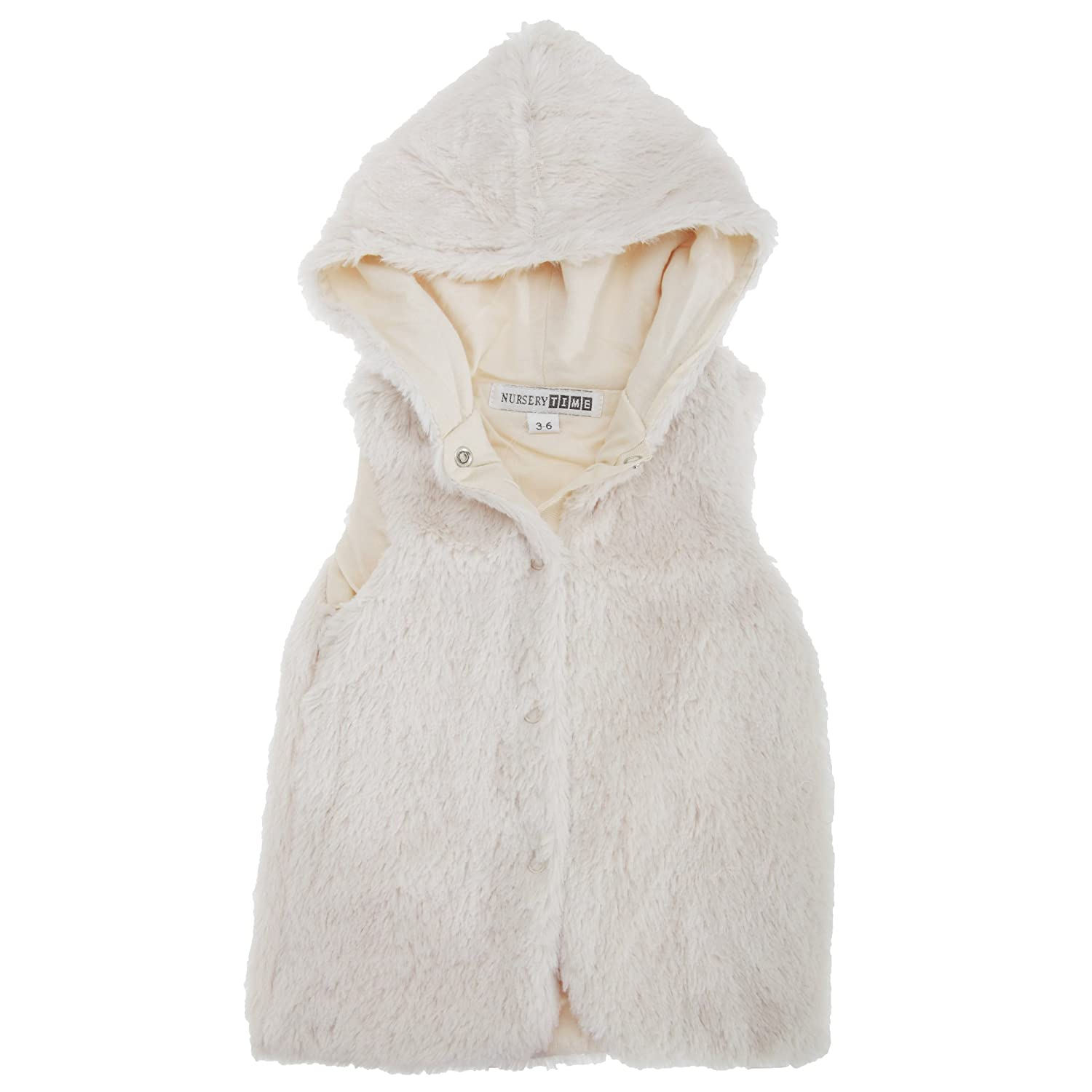 Universal Textiles Baby Girls Hooded Faux Fur Winter Gilet