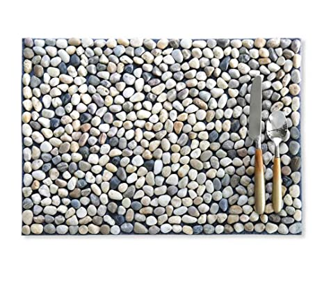 Stone Placemats in Multi-Color, Set of 4