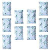 Paquets de gel de silice E-Cron Tyvek Dessiccateur de gel de silice en sachet, pur, sûr et réutilisable. Pochettes de déshumidificateur renouvelables - Absorbe l'humidité.