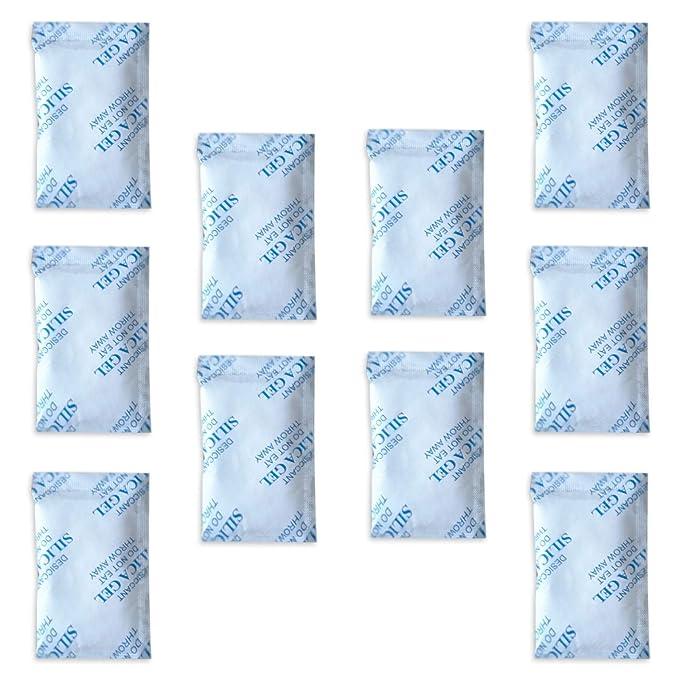 c556601d9 Paquetes de gel de sílice E-Cron Tyvek de 10 x 10 g. Desecante de bolsitas  de gel de sílice reutilizables, seguras y puras.