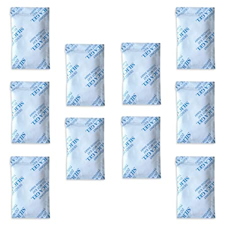 Paquetes de gel de sílice E-Cron Tyvek de 10 x 10 g. Desecante de bolsitas de gel de sílice reutilizables, seguras y puras. Bolsas deshumidificantes ...