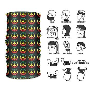 Reggae Face Mask Bandana Neck Gaiter Scarf Headwear UV Ski Mask Tube Brand New