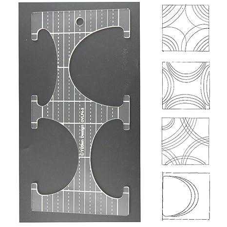 3 mm de acrílico de punto de sueño Patchwork Quilting plantilla regla óvalos/hojas para