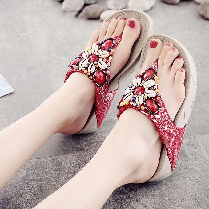 e73ec9979 Hope Sandalias para Mujer Zapatillas Chanclas De Suela Gruesa Summer  Seaside Sandalias De Playa Antideslizantes  Amazon.es  Deportes y aire libre