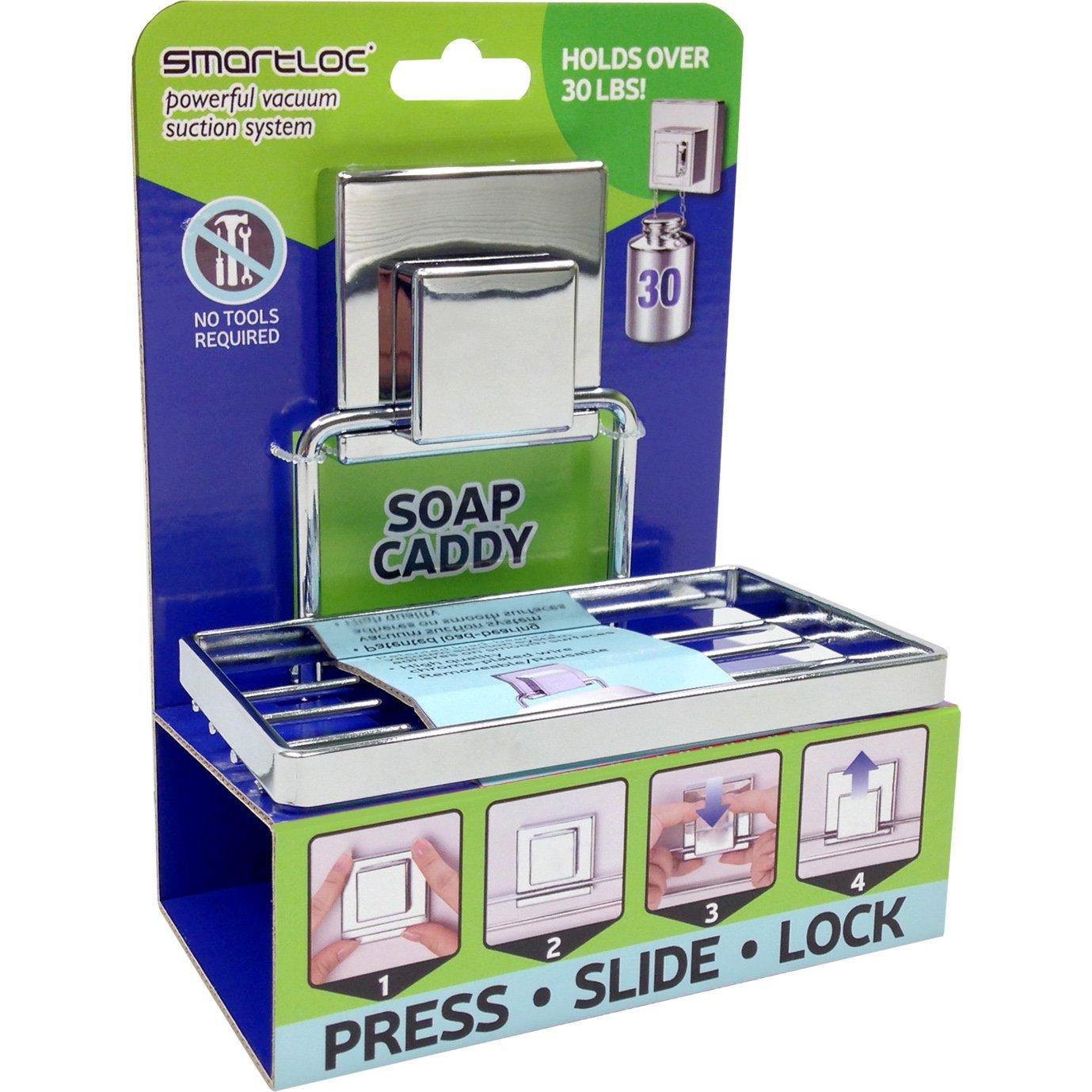Amazon.com: Smartloc Patented Vacuum Suction Soap Holder, 30 lb ...