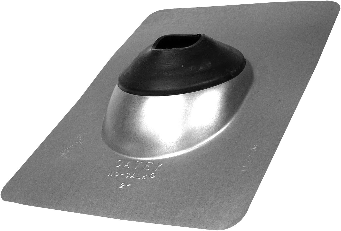 Oatey 11840 Galvanized 1 pipe diameter No-Calk Roof Flashing 9 x 12.5 Base