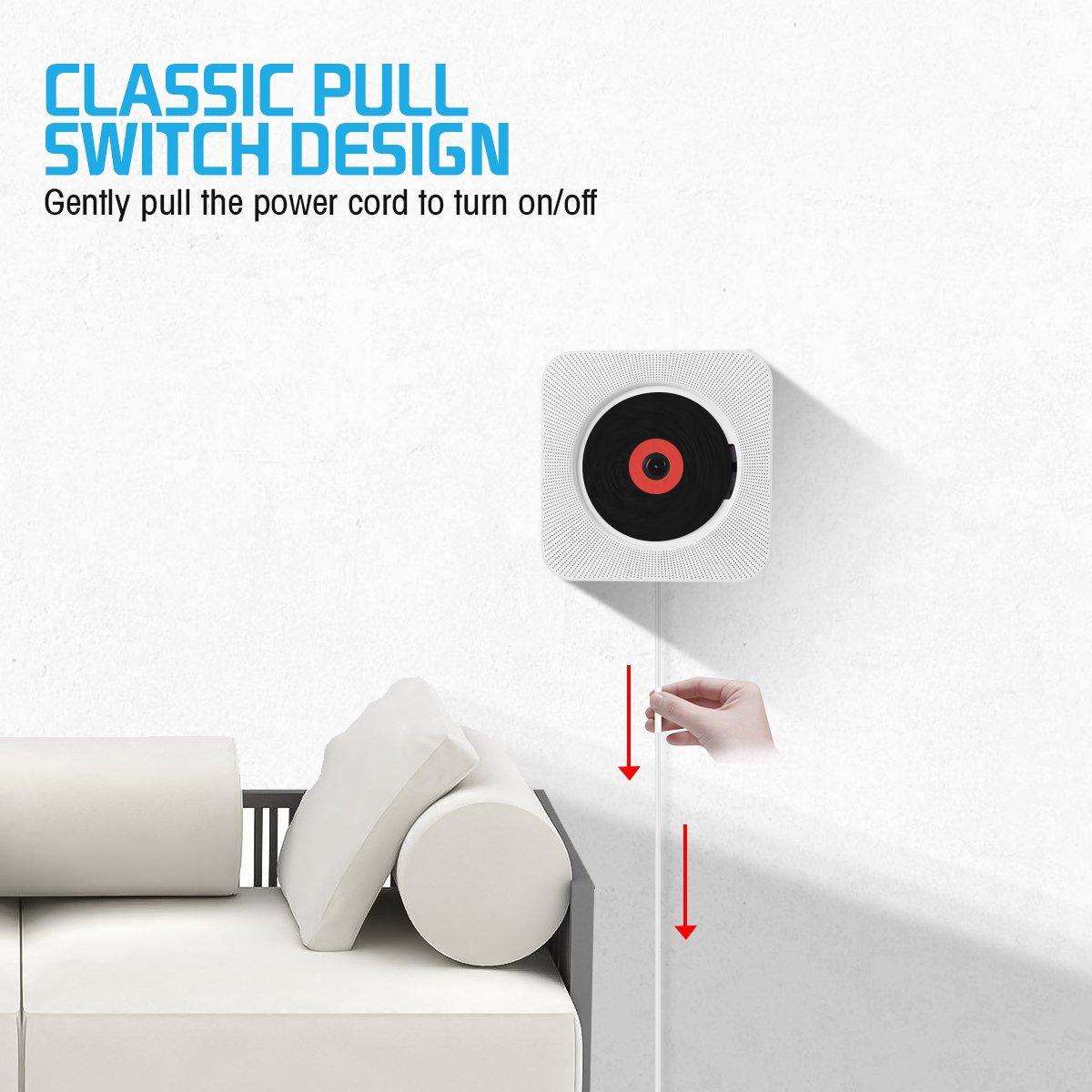 Amazon.com: Wrcibo - Reproductor de CD con Bluetooth con ...