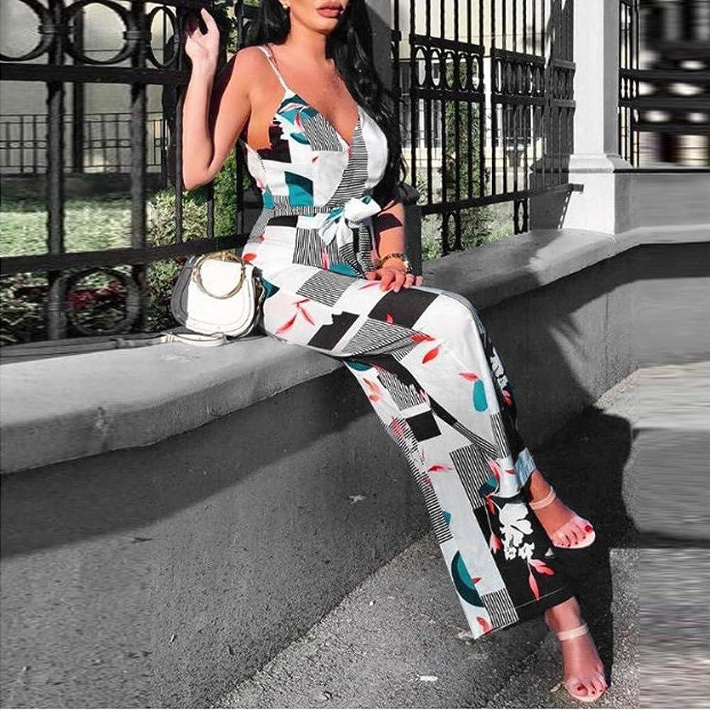 Verano 2019 Estampado Flores Sunnsean Sin Tirantes Ni Mangas Pantalones Anchos Casual Ropa De Mujer Monos Mameluco Pantalones De Vestir Pantalones Monos Largos De Mujer Bebe Ropa Premama