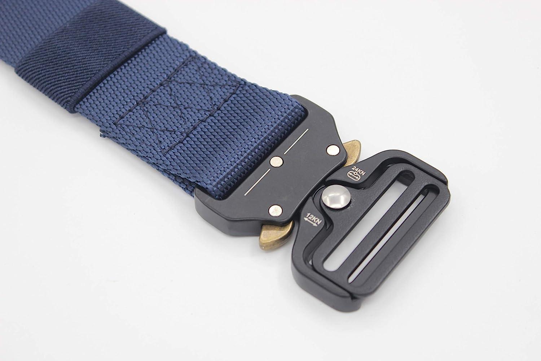 MESHIKAIER Men Nylon Canvas Belt Military Tactical Belt Outdoor Sport Breathable Waist Belt with Metal Buckle