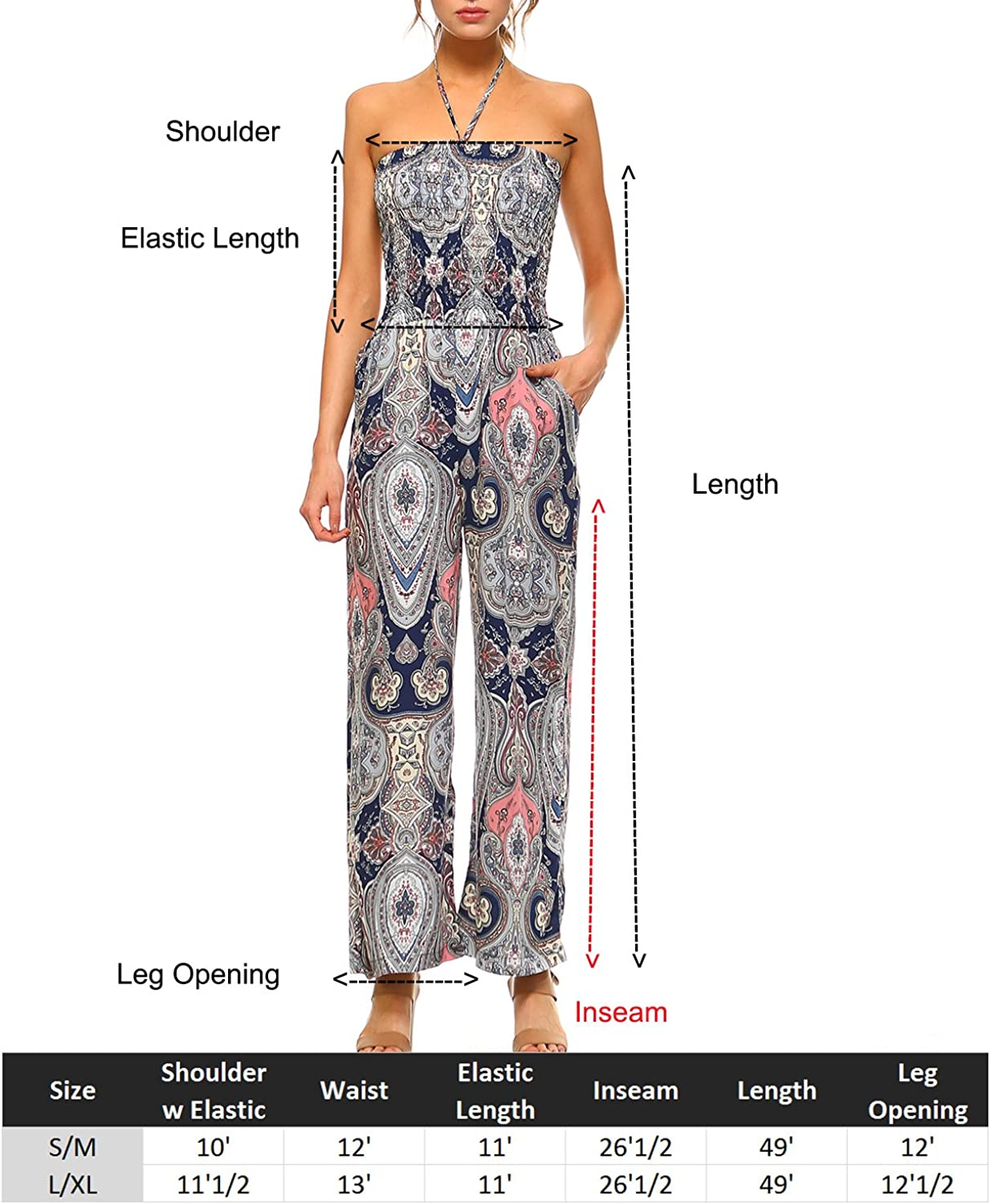 Fashionazzle Womens Casual Solid and Print Jumpsuit Variety Playsuit