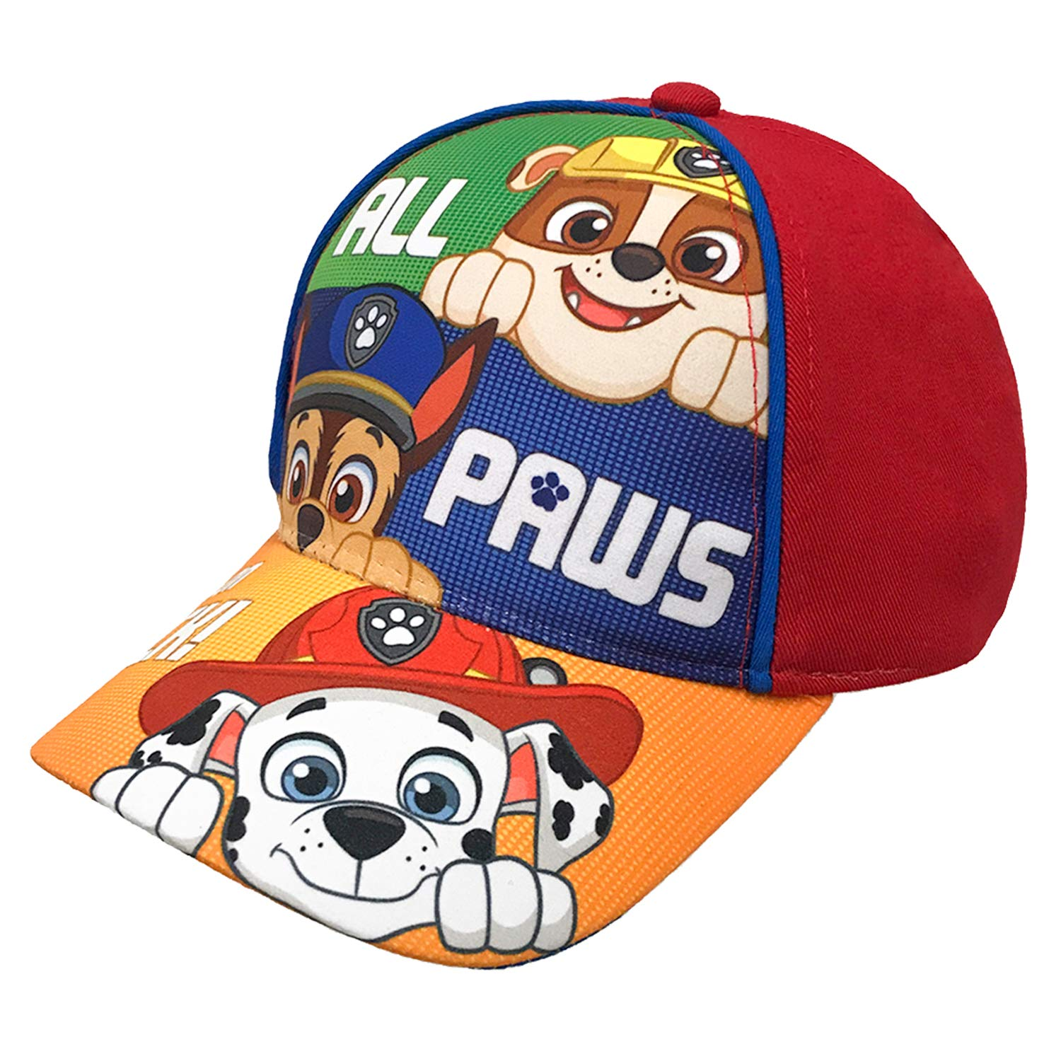 huge discount d7009 98758 Amazon.com  Nickelodeon Paw Patrol Character Toddler Boys Cotton Baseball  Cap Age 2-5  Clothing