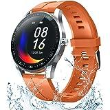 Smart Watch Fitness Tracker para teléfonos Android iOS, Smartwatch de temperatura corporal con frecuencia cardíaca, sueño, pr