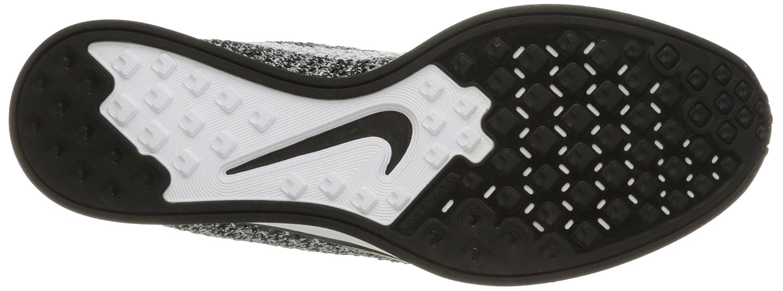 NIKE Unisex Flyknit Racer Running Shoe B01CDNDCU6 8 D(M) US|Black/White