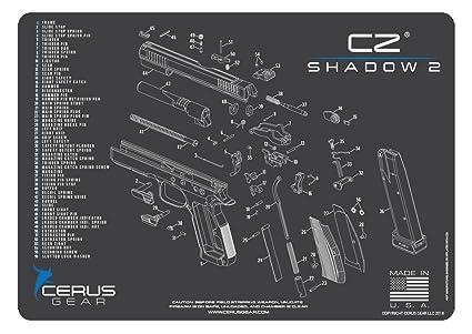 Cerus Gear CZ Shadow 2 Handgun Promat, Charcoal Gray