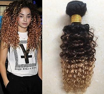 """ecdb03b6d A1Creations 12"""" Ombre Hair Brazilian Kinky Curly Hair Bundles 1 Bundle  10A Ombre Brazilian Virgin"""