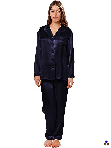 ElleSilk Pijama De Seda para Mujer, Camisón De Seda para Mujer, Hipoalergénico, 22