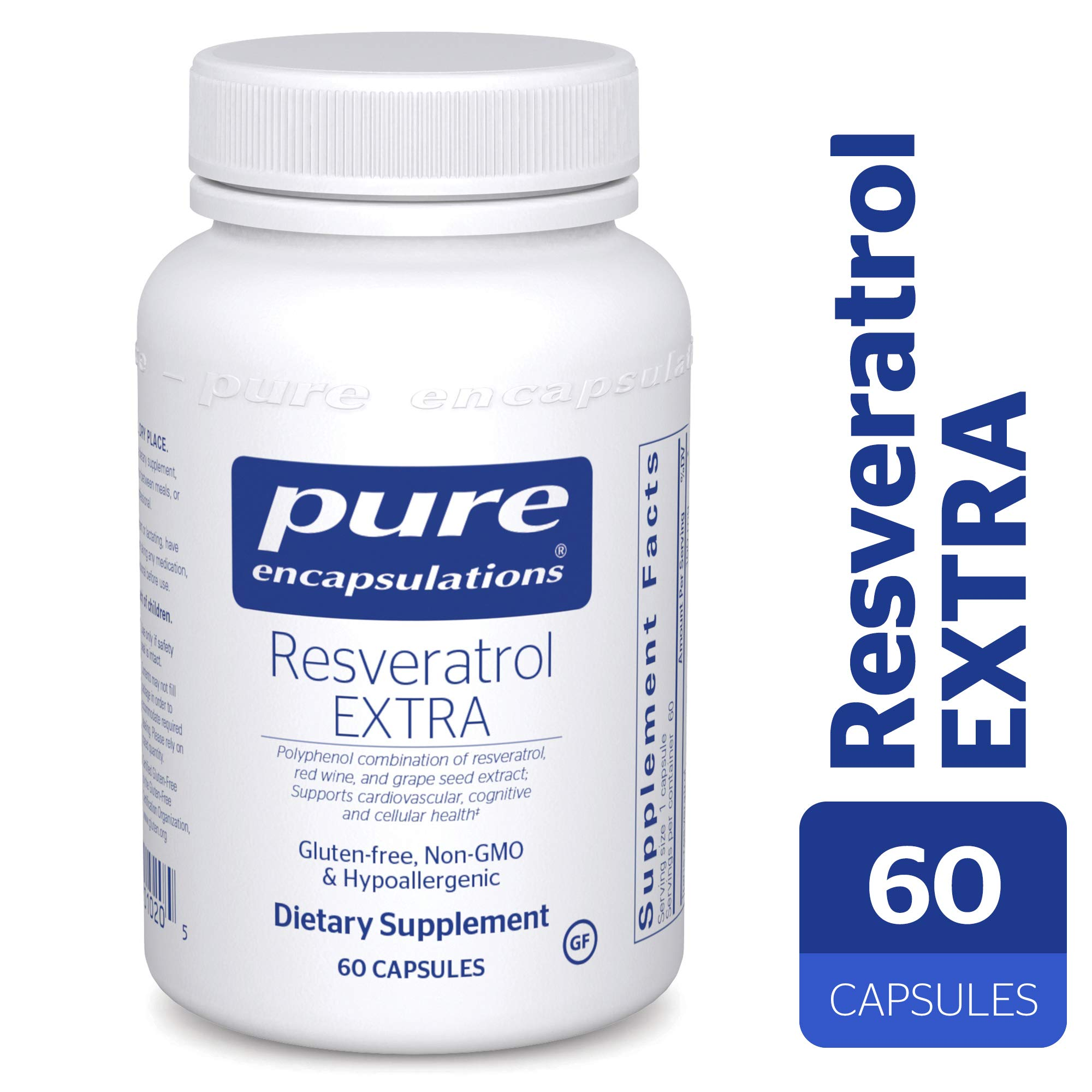Pure Encapsulations - Resveratrol Extra - Hypoallergenic Dietary Supplement for Healthy Cellular and Cardiovascular Function* - 60 Capsules