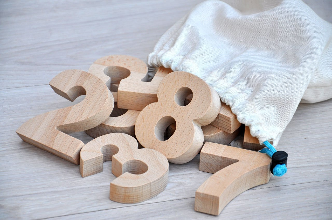 Nú meros de madera para niñ os Nú meros infantil Juguetes educativos Nú meros para aprender matemá tica