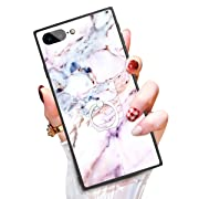 Someseed Case for iPhone 7 Plus iPhone 8 Plus Case with Kickstand Pink Marble Cover Case with 360 Degree Ring Holder Anti Scratch Durable Full Protective for iPhone 7 Plus/iPhone 8 Plus 5.5