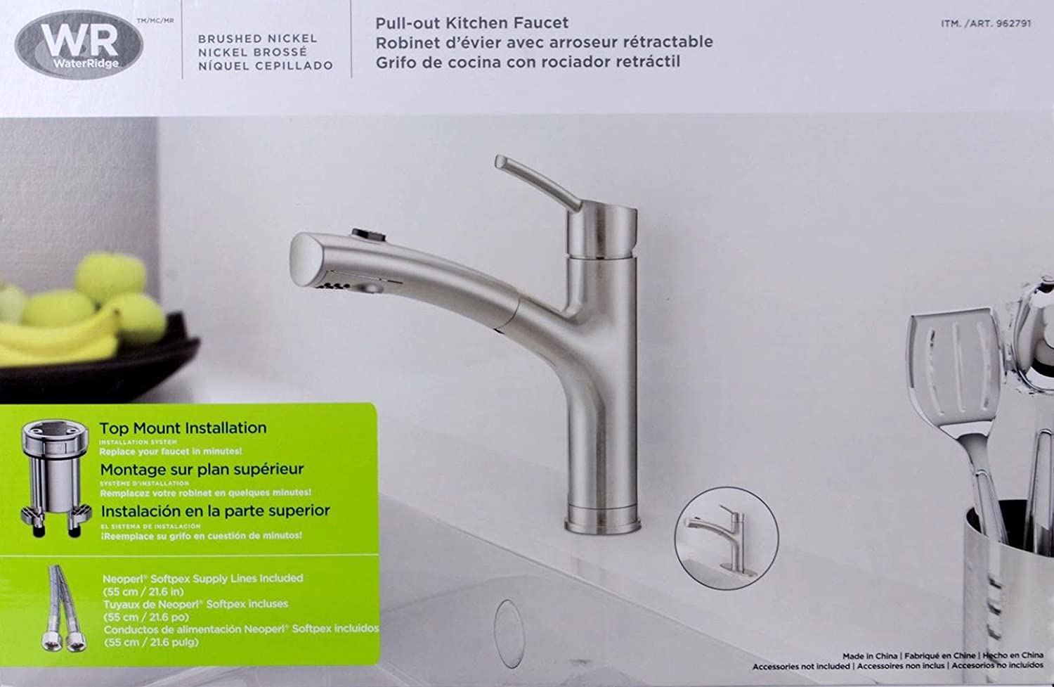 Water Ridge Brushed Nickel PullOut Kitchen Faucet FPB - Waterridge kitchen faucet