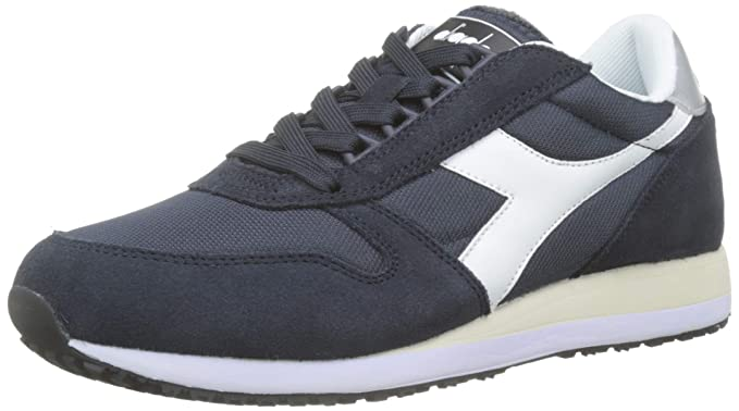 : Diadora Men's Caiman Suede Trainers, Blue: Clothing