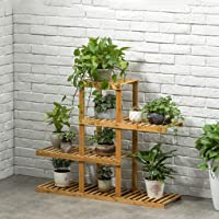 CXQ Retro Simple Home Environmental Protection Bamboo Floor-Style Indoor Flower Rack Four-Story Balcony Living Room Indoor Flower Pot Rack
