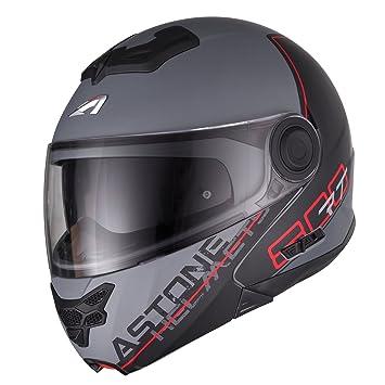Astone Helmets rt800-line-rgl casco Moto RT 800 LINETEK, rojo/gris