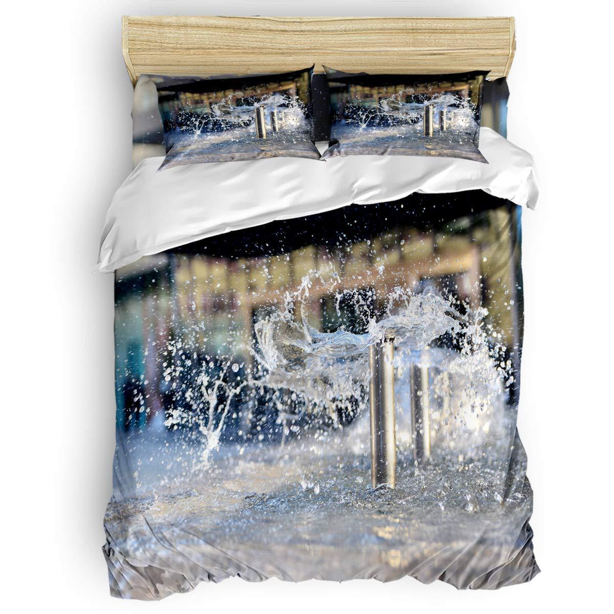 掛け布団カバー 4点セット クラフト紙の地図デザインとヴィンテージの世界地図コンパス 寝具カバーセット ベッド用 べッドシーツ 枕カバー 洋式 和式兼用 布団カバー 肌に優しい 羽毛布団セット 100%ポリエステル クイーン B07TF8XS19 fountainsLAS2009 クイーン