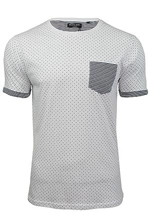 Brave Soul 'Christi' - T-shirt Homme Manches courtes Motifs pois Poche  poitrine